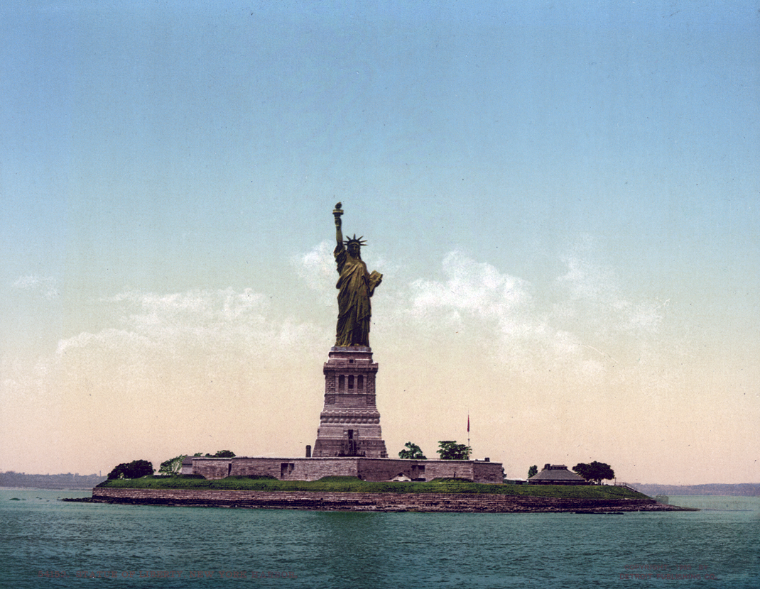 Statue of Liberty, New York Harbor, NYC - #54152 -7x9in- $325