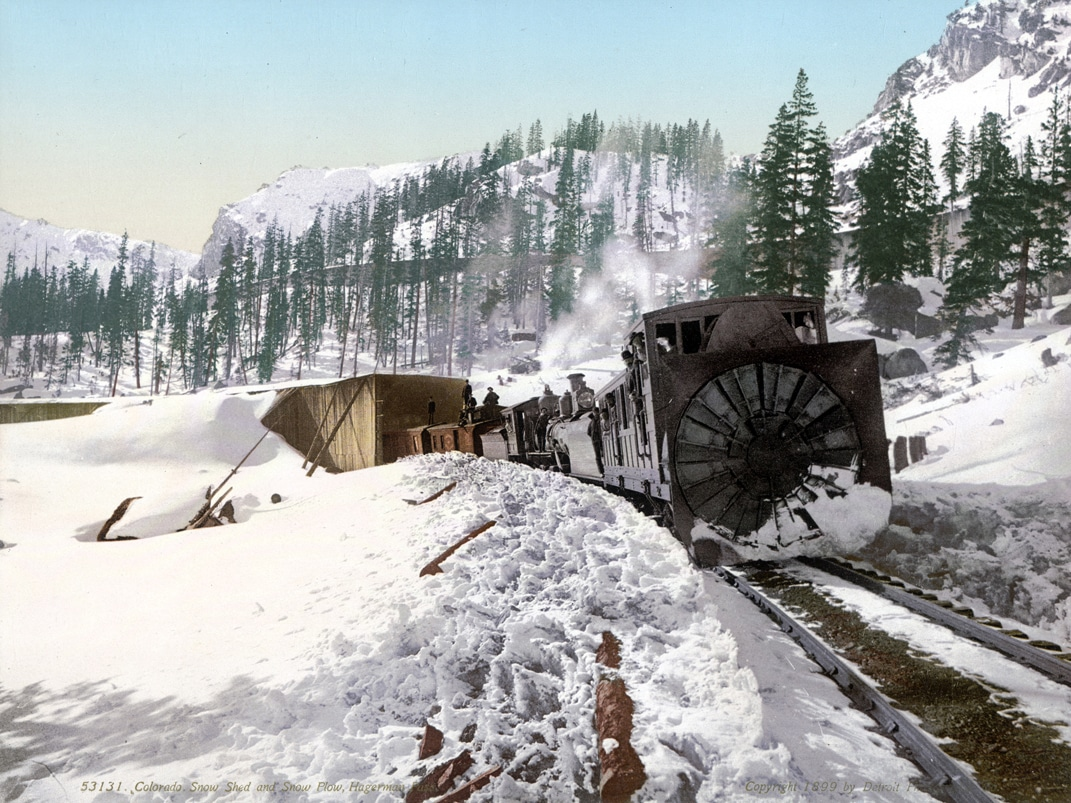 #53131 Colorado. Snow Shed and Snow Plow, Hagerman Pass