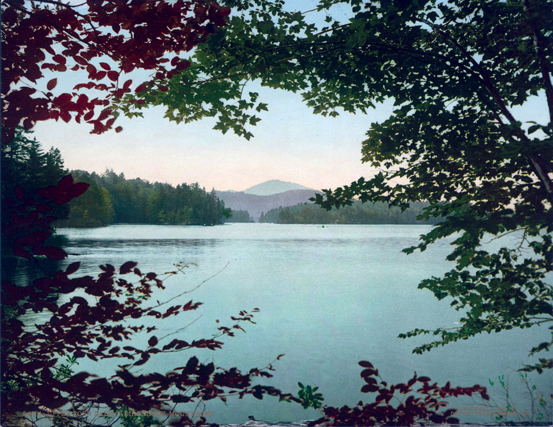 Upper Loon Lake, Adirondack Mountain, Franklin County, NY, 7x9 #54031
