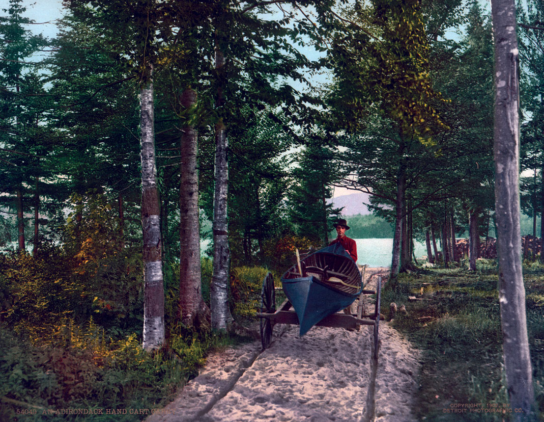 An Adirondack Hand Cart Carry, NY 7x9, 1902, #54049