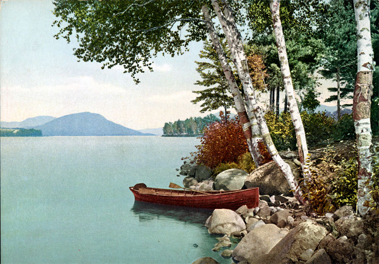 Along the Shore, Concordia Bay, Lake George, NY 4.75x6.5 #75073
